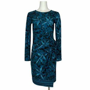 H By Halston Wrap Front Dress XS Long Sleeve